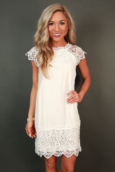 Livin' For The Weekend Crochet Dress in White