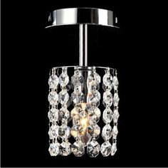 NAVIMC New Modern Crystal Ceiling Light Pendant Lamp Fixture Lighting Chandelier for Corridor Living Room Study Room LED Bulb Included -- Be sure to check out this awesome product.