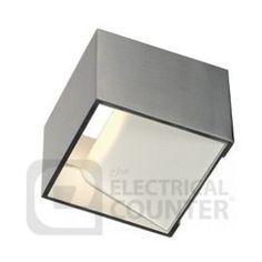 Intalite SLV 151325 Brushed Aluminium Logs In Warm White LED Wall Light 5W