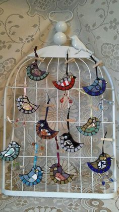 A menagerie of mosaic birds