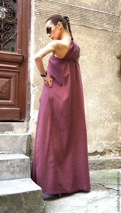Длинный сарафан длинный сарафан в пол льняное платье летнее платье в пол