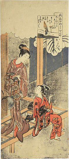 (Japan) by Suzuki Harunobu (1725- 1770). ca 18th century CE. woodblock print.