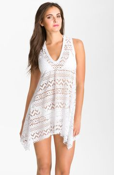 Robin Piccone 'Penelope' Crochet Kerchief Cover-Up Dress