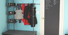 The entry from the garage is our prime spot for gathering shoes, jackets, and all the junk needed before heading out the door. Using some inspiration found onli…