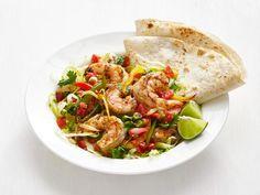 Get Shrimp Fajita Salad Recipe from Food Network