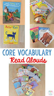 Core Vocabulary Read Aloud Favorites - Fun in ECSE