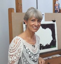 Lyn Diefenbach during her episode with Colour In Your Life. Altered Art, Pastels, Tutorials, Colour, Craft, Celebrities, Lace, Floral, Jewelry