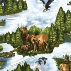 Wilderness & Nature fabric on FlannelWorld.com