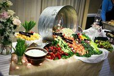 A display of vegetables