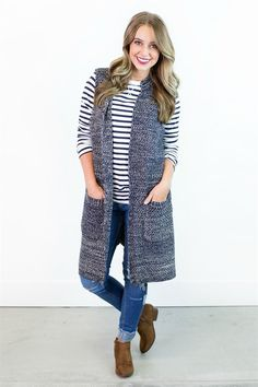 We are absolutely in LOVE with our new Plaid Oversized Fall Cardigan! This cardigan is so soft and has such a stylish plaid pattern, that you're sure to l find a way to wear it with everything!