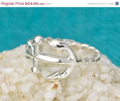 Christmas+In+July+Anchor+Ring++Sterling+by+TheJewelryGirlsPlace,+$19.96