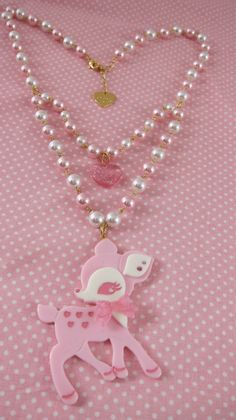 Angelic Pretty deer necklace.