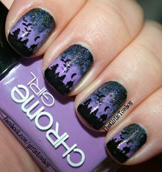 The Girlie Tomboy: Spooky Halloween Forest Nails