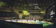 El pabellón de los WORLD GAMES donde se celebraron las competiciones de Baile Deportivo Hockey, Basketball Court, Sports, Sporty, Dancing, Hs Sports, Field Hockey, Sport, Ice Hockey