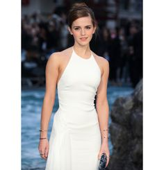 Emma Watson shines in Skinny Diamond Pave Stacking Rings at the London Premiere for Noah.