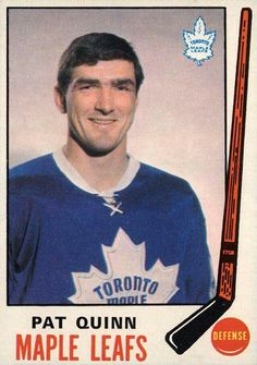 Pat Quinn Maple Leafs Hockey card Pat Quinn, Maple Leafs Hockey, Hockey Rules, Good Old Times, O Canada, Vancouver Canucks, Hockey Cards, National Hockey League, Toronto Maple Leafs
