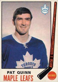 Pat Quinn Maple Leafs   Hockey card