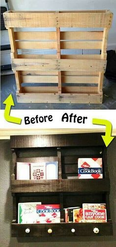 Pallet DIY bookshelf