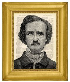 Edgar Allan Poe Portrait Dictionary Art by MadameBricolagePrint, $10.00