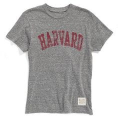 Retro Brand 'Harvard' T-Shirt www.teelieturner.com A sporty screenprint with a time-weathered look lends ivy-league charm to a crewneck T-shirt with short sleeves. #fashion