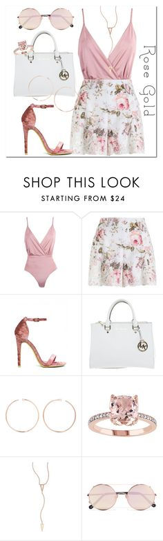 """""""rose"""" by dreamer3108 on Polyvore featuring Zimmermann, Michael Kors, Anita Ko, EF Collection, Sunday Somewhere and rosegold"""