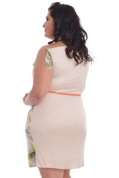 Vestido Tropic Folhagens - VK Moda Plus Size