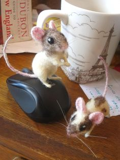 felted mice by HStiLeS on DeviantArt