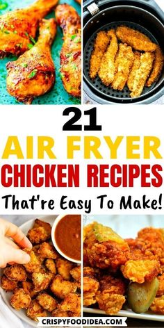 Air Fryer Recipes Low Carb, Air Fryer Dinner Recipes, Chicken Thigh Recipes Oven, Baked Chicken Recipes, Healthy Chicken, Oven Chicken, Air Fried Food, Air Frier Recipes, Chicken Thighs