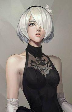 Amazing Evening dress Nier Automata 2b #nierautomata #cosplayclass