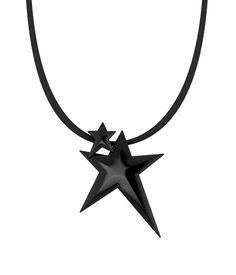 Κρεμαστό Black Double Star Unisex Handmade Jewellery, Handmade Necklaces, Lucky Charm, Pendants, Unisex, Stars, Collection, Black, Jewelry