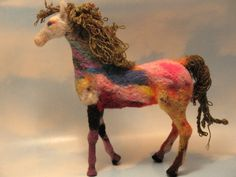 Needle Felted Horse KIT. $23.00, via Etsy.