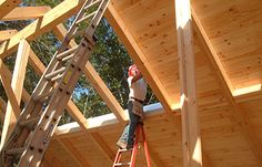 Timber frame construction caribou creek log timber for Sip home packages