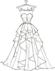 New drawing fashion sketches dresses inspiration Ideas Barbie Clothes Patterns, Doll Dress Patterns, Clothing Patterns, Fashion Design Drawings, Fashion Sketches, Drawing Fashion, Wedding Dress Drawings, Wedding Dress Illustrations, Wedding Drawing