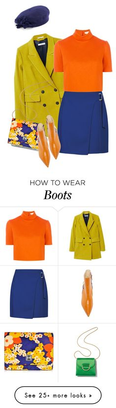 """""""Amber"""" by km-r7 on Polyvore featuring MANGO, Delpozo, Little Liffner, Carven, Betmar and vintage"""