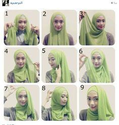Hijab tutorial from ayu aryuli.