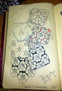 Zentangle Patterns Step by Step | Pop'T tangle by Sadelle Wiltshire, CZT