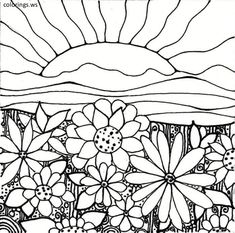 7 Best Flower Garden Coloring Pages Images