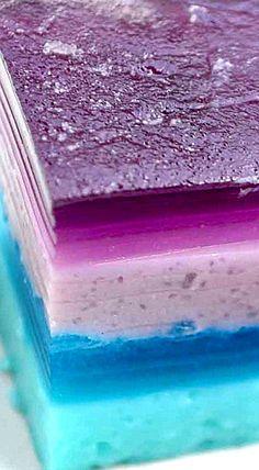 Sea Glass Layered Jell-O Bars ❊