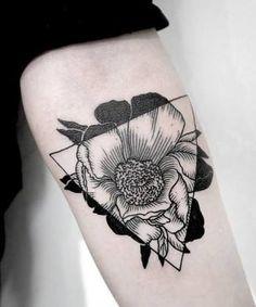 geometric lotus flower tattoo - Google Search