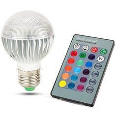 Skylarking LED RGB Bulb E27 15W Remote Control LED Light Bulb RGB 16 Color Changing 360 Degree LED Lamp Dimmable 110240V 15 Watts ** Learn more by visiting the image link.