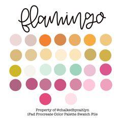 Flat Color Palette, Palette Art, Color Palate, Yarn Color Combinations, Color Schemes, Color Psychology, Colour Board, Brush Lettering, Color Swatches