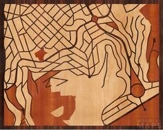 Woodcut maps, made from any Google map you choose.