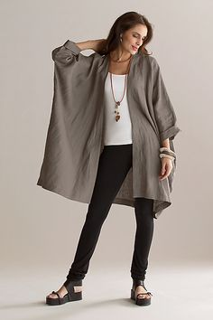 Kimono Jacket: Planet Clothing: Linen Jacket - Artful Home