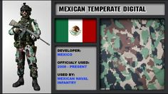 Mexican camouflage patterns