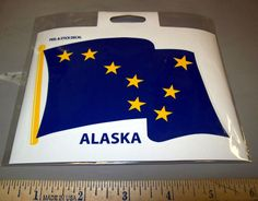 Alaska State Flag Peel and stick Decal - great Alaska collectible sticker! New