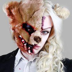 Evil Bear Horror Makeup