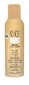 Nyce Legs Spray On Instant Nylons Light Beige/NUDE by Nyce Legs. $18.99. The new patented spray on instant nylons. You won't believe your eyes or how great your legs will look and feel!. Nyce Legs doesn't rub off. Only soap and water will remove. Rain, perspiration, pool water, surf, even bed sheets won't take away Nyce Legs. Easy to apply. No streaking. Fast drying to a flattering matte finish with shimmer. Hides spider veins, scars and blemishes.. Nomore runs. ...