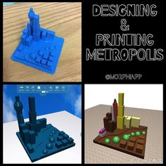 Designing and building metropolis with @morphiapp #yycbe #cbe3D #cbemaker #ade2015