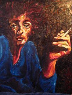 Smoke by Cristina-Mary Buzamet Smoke Painting, Mary, Wall Art, Wall Decor