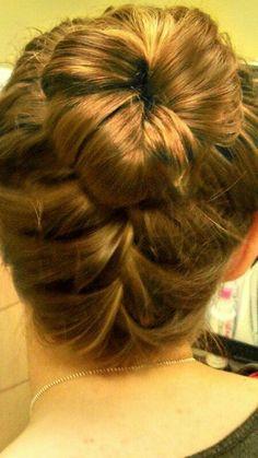 Backwards fishtail, and a bun